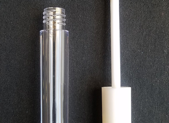 CLEARANCE! 3 ml Empty Clear Lip Tubes with White Wands