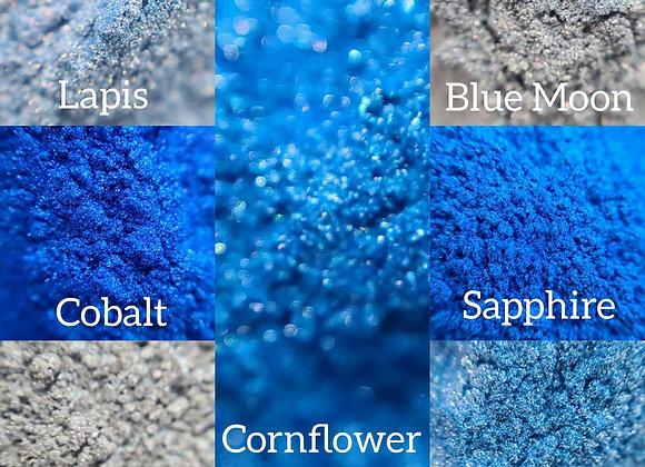 10 g Individual Powder Colors - Blue Tones