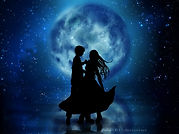A couple dancing in the moonlight