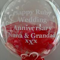 printed balllons from £10
