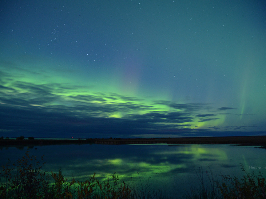 Aurora over Lake Winnipeg