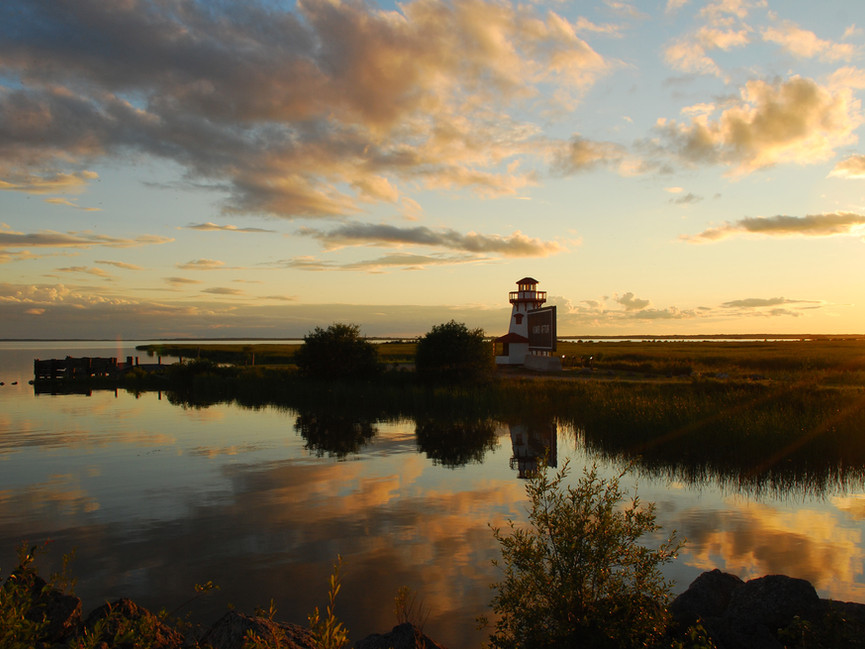 Sunset near Hecla Island, Manitoba