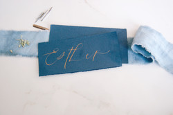 Copperplate gold calligraphy