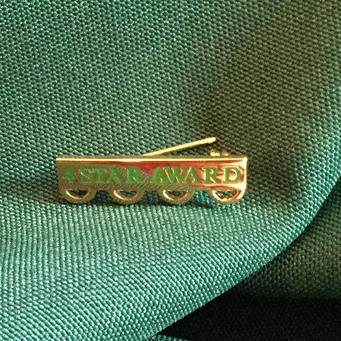 4-Star Chapter Bar Pin