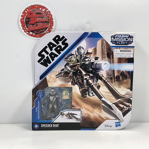 Star Wars - Mission Fleet - The Mandalorian and Child with Speeder Bike