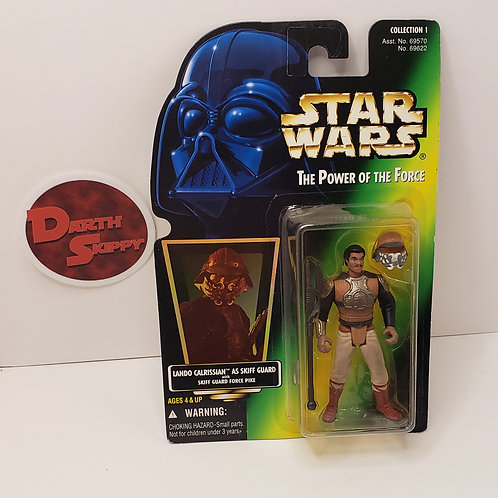 Power of the Force Lando Calrissian Skiff Guard (Green Holographic Card)