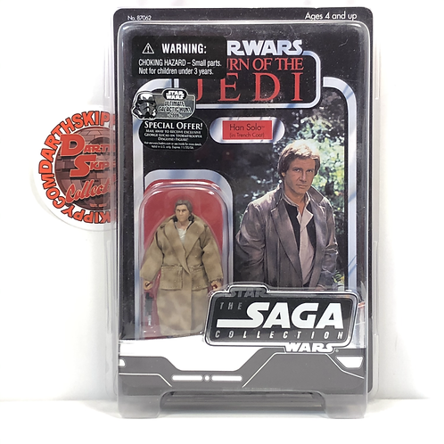 """Star Wars Saga Collection - ROTJ - Han Solo - Trench Coat - 3.75"""" With Protector"""