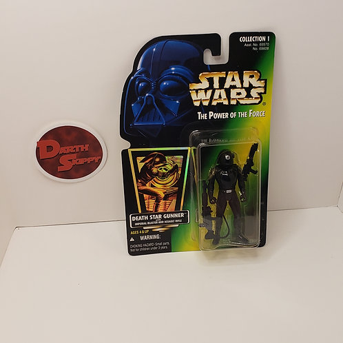 Power of the Force Death Star Gunner (Green Holographic Card)