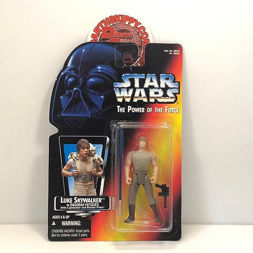 """Star Wars - POTF - Red Card - Luke Skywalker - 3.75"""" Action Figure - Dagobah"""