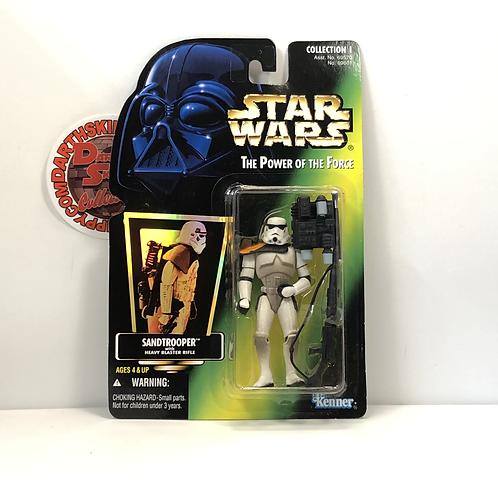 "Star Wars - POTF - Green Holographic Card - Sand Trooper - 3.75"" Action Figure"