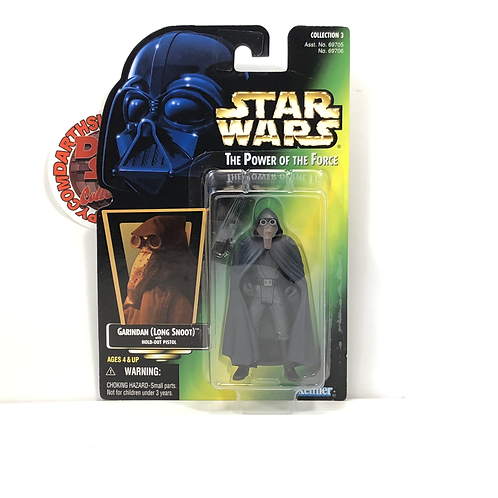 "Star Wars - POTF - Green Holographic Card - Garindan (Long Snoot) - 3.75"" Figure"