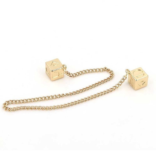 Han Solo Lucky Dice Prop - Gold Color Smugglers Dice/Cube Charm