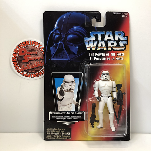 Star Wars - POTF - Red Card - Stormtrooper (French / English Package) RARE
