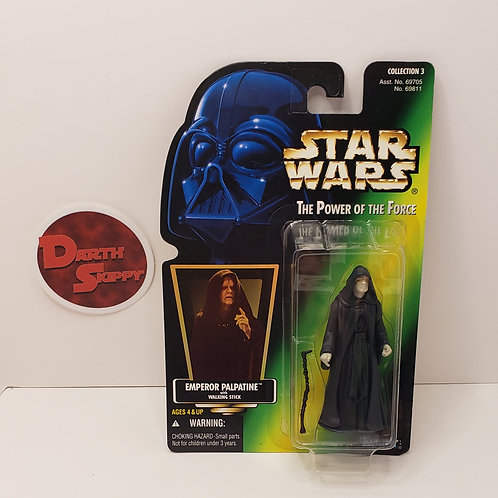 Power of the Force Emperor Palpatine (Green Holographic Card)