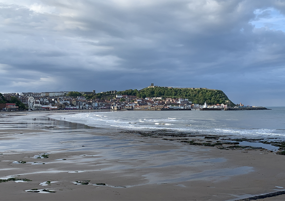Scarborough South Bay & Castle, beach and sea