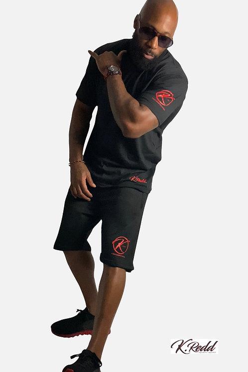 B&T Signature Zipper Pocketed  Shorts Set