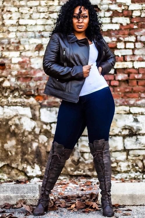 Women's Full Grain Leather Jacket