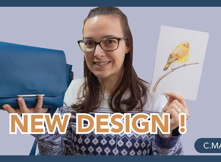 ショルダーバッグの新色!中のデザインの描き方をお見せします!