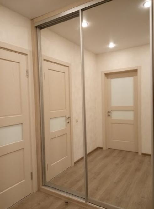 дверь зеркальная