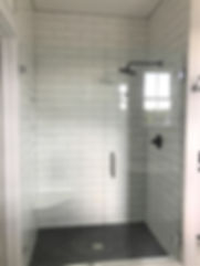 Fully tiled Master shower