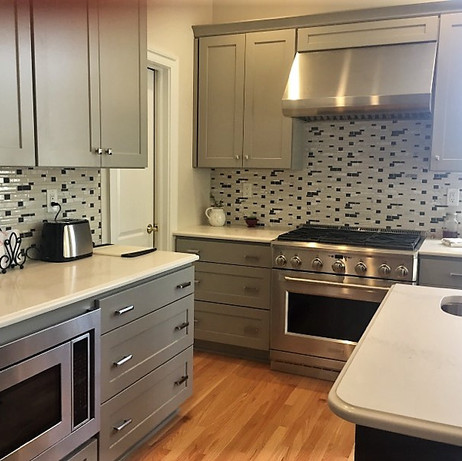 Cabinets, counter tops, appliances, floors, sinks and tile were replaced