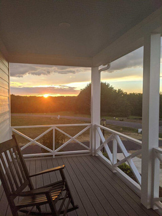 Sunset from Magnolia Cottage porch