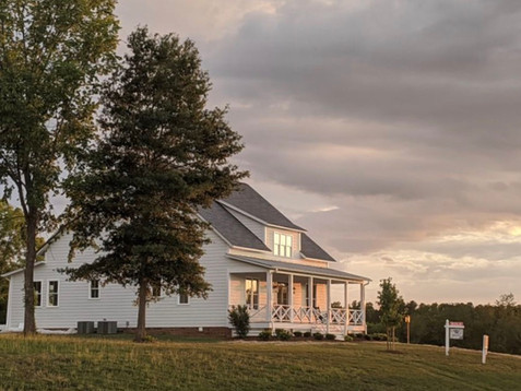 Magnolia Cottage at sunset