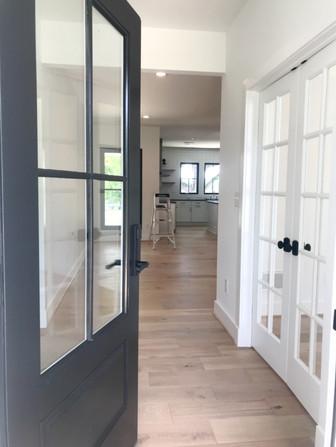Foyer and study doors