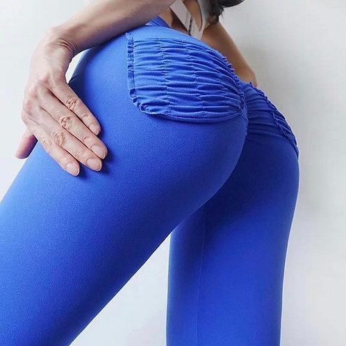 Legging Fitfordivas PUSH UP basic Pocket bluette
