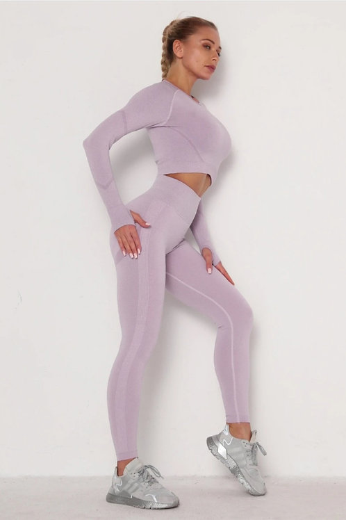 Completo Fitfordivas PUSH UP SCRUNCHY BUM SEAMLESS sport light purple