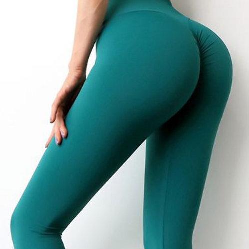 Legging Fitfordivas NUDE  PUSH UP basic green