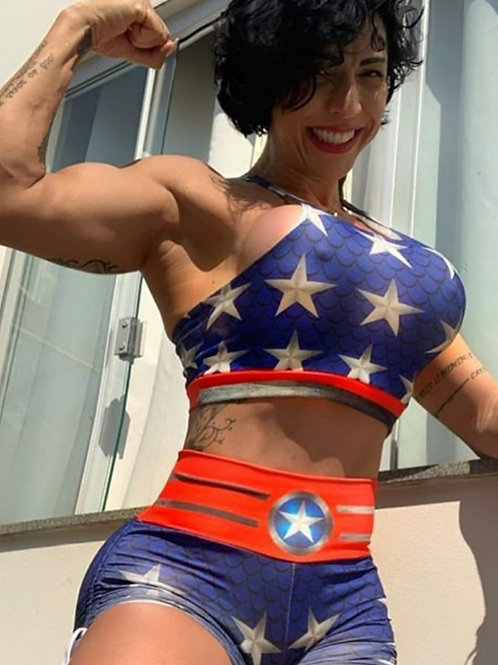 COMPLETO SHAPE WONDER WOMAN con shorts