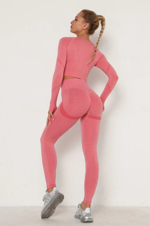Completo Fitfordivas PUSH UP SCRUNCHY BUM SEAMLESS pink