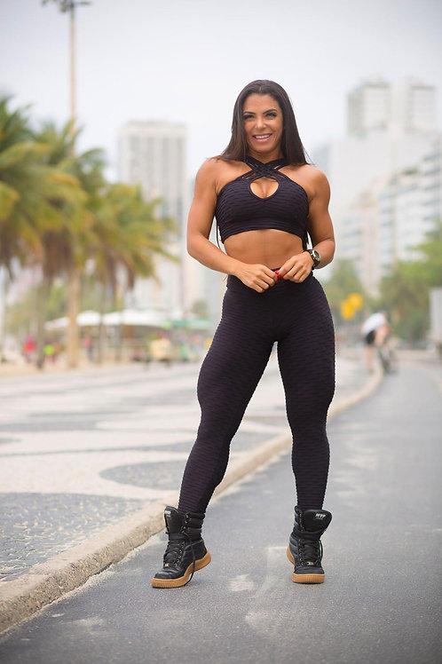 Legging BRAZIL PUSH UP BROCADO black