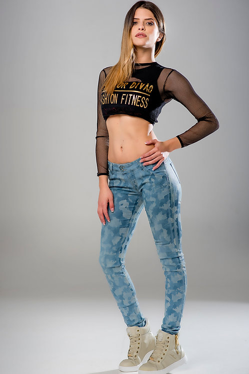 JEANS Fit For Divas CAMOUFLAGE