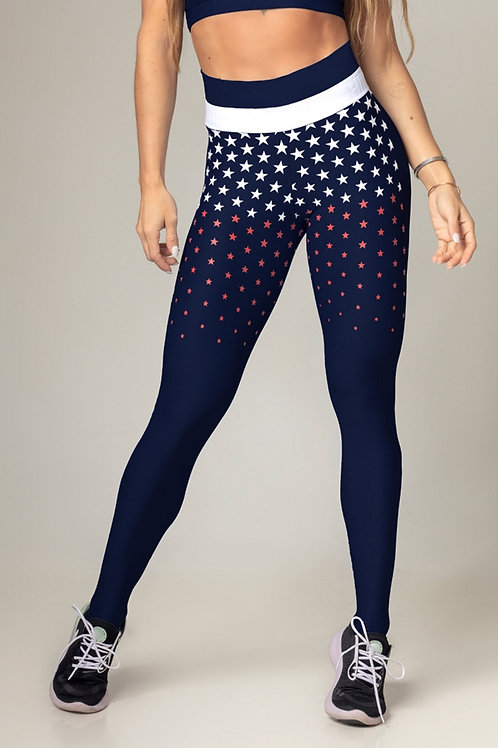 Legging Hipkini Party Fitness azul brilhante