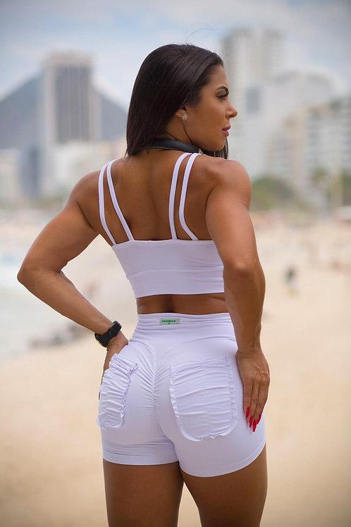 Shorts Push Up BRAZIL Frufru white