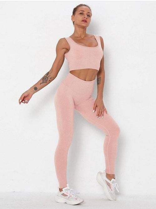 Completo Fitfordivas  Seamless High Waist Stretchy light pink