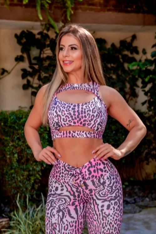 Completo People Fit Push Up Animal Print pink