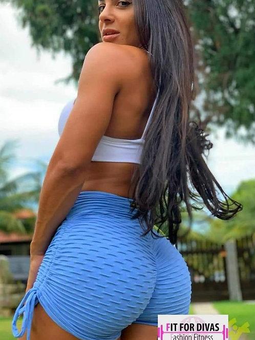Shorts BRAZIL Push Up BROCADO azul bb