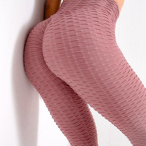 Legging Fitfordivas PUSH UP brocado 3D sexy Scrunch Butt pink