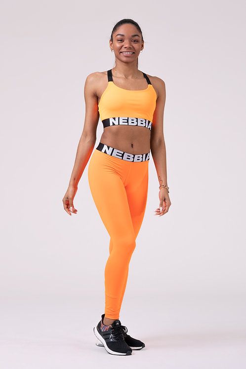Legging Nebbia 528 Squad Heroe Scrunch butt orange