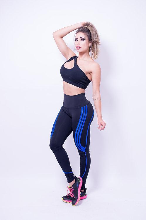 Legging People Tiras nero/blu
