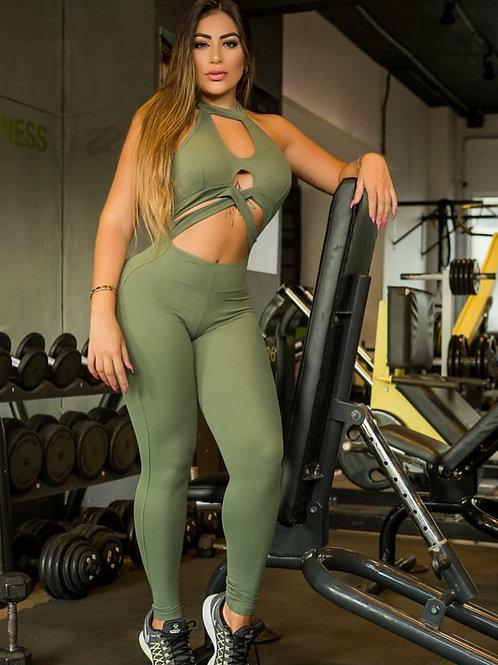 Tuta intera PUSH UP RIO MELL green