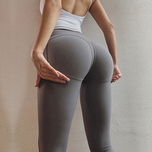 Legging Fitfordivas Seamless Striped  PUSH UP Grey