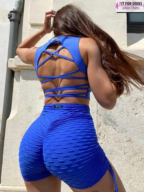 Shorts PUSH UP BROCADO blue royal