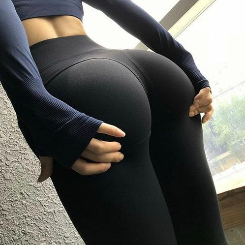 Legging Fitfordivas Seamless Striped  PUSH UP black