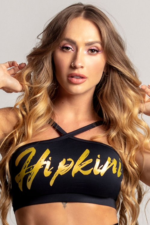 Top Hipkini Light Fitness preto com silk