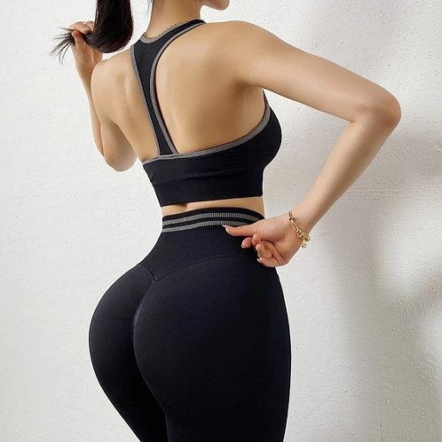 Completo Fitfordivas Power PUSH UP SCRUNCHY BUM  fitness black