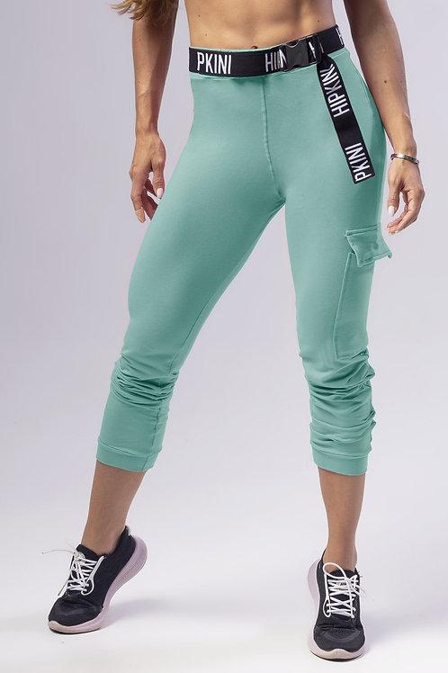 Legging Hipkini Wave Fitness de Moletom Verde com Bolso